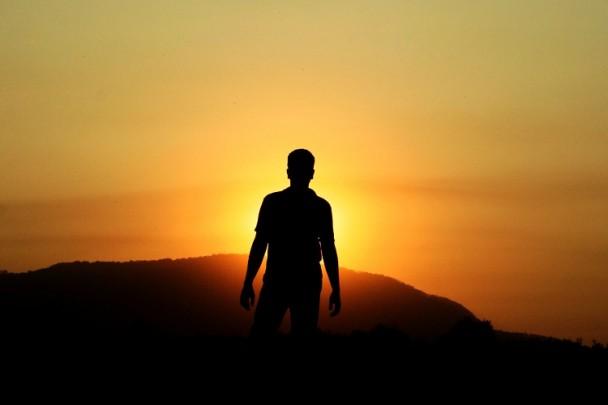 Me walking again sunset